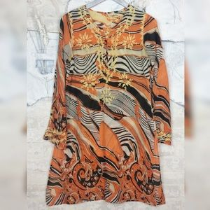 Dresses & Skirts - Vintage   Psychedelic Embroidered Tunic Like Pucci